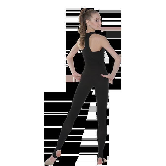 Трико плотное, матовое для занятий художественной гимнастикой, танцами. Фото: 2