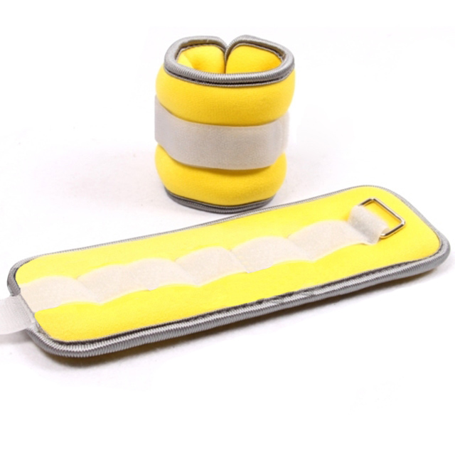 Утяжелители для художественной гимнастики желтого цвета. Фото:2