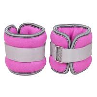Универсальный утяжелитель для ног и рук розового цвета. Фото: 1